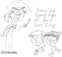 Tommy 'n Tammy VS Their Aunt by nintendomaximus