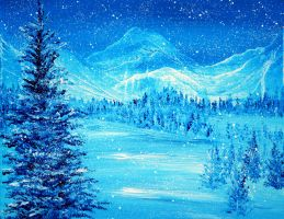 Blue Winter by AnnMarieBone