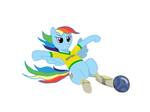 World Cup Ponies - Rainbow Dash for Brazil (color) by lifeofthe6