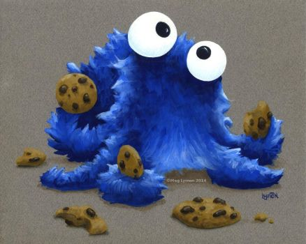 Cookie Monster Octopus by MegLyman