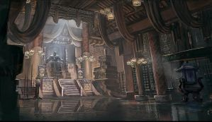 The lord in the throne room by ortsmor