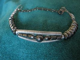 Hematite Bracelet - Wire wrapped by ItsAWrap