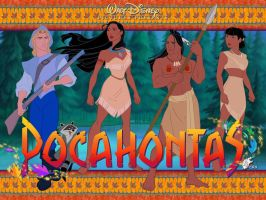 Pocahontas - Wallpaper by davidkawena