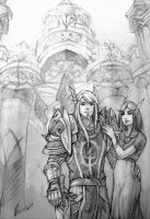 Ashana and Cale'than by Angevere