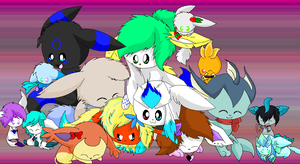 1 year on DA: A pile of friends by snowflake95