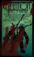 Bioshock Art Deco Poster Bloody by DeepFriedD0nut