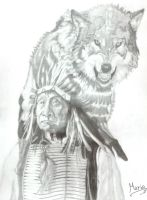 From Indian to Wolf. by Mario-19