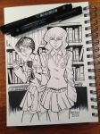 Gotham Academy - Olive and Maps - Inks by WillPetrey