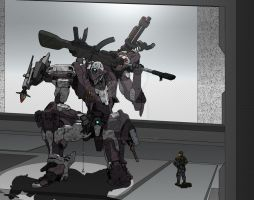 Sniper Mech by shinsengumi77