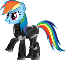 Rainbow Dash NanoSuit 2.0 by TechX12