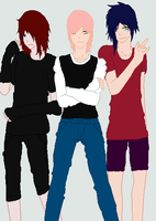 Reilly,Carmine and Felix by Tortured-Hearts