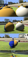 Sumo sized Sonic and Tails by DatGirlintoGmod