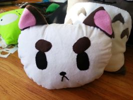 Puppycat Pillow by OddCurio