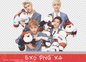 EXO PNG X 4 by Ruvita