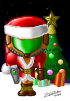 Metroid Christmas edition by GiulianoBotter