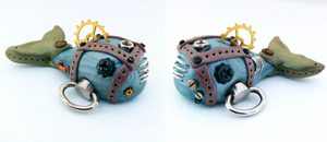 Steampunk Whale Figurine by Wind-UpLadybug