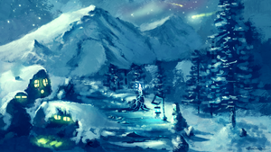 Winter Night  by Frostwindz