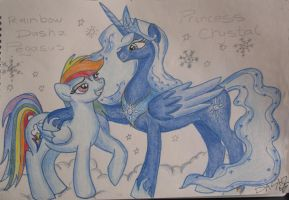 Dash and Princess Crystal by RainbowDashZpegasus