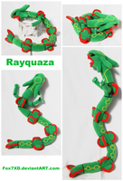 Rayquaza mini Plush by Fox7XD