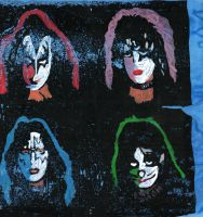 Kiss Painted Faces by Grim-Heaper