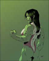 She Hulk by ZigEnfruke
