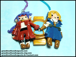 Chrono and Rosette Necklace by GrandmaThunderpants