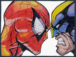 Spiderman VS Wolverine by Gemelli22