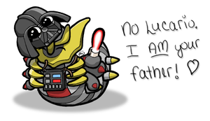 Chibi Darth Giratina by tonberrygrrl