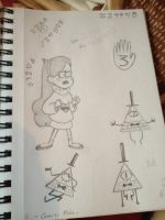 Gravity Falls doodles by Godessia