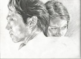 Glenn and Maggie WIP 3 by michaelmdw