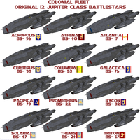 Colonial Original 12 Battlestars by Chiletrek