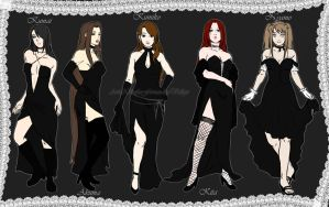 Naruto OC: Girls in Black by A-dellaMorte