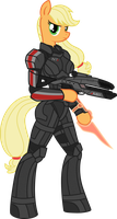 Commander Applejack by Chimajra