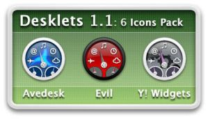 Desklets 1.1 Icons Pack by xande06