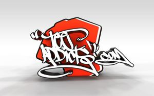 Tee Addicts Tag Wallpaper  3d by motion-attack