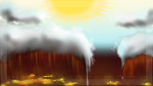 Background - Gold mines and the sky by Arkare