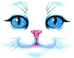 blue eyes cat by leehaneul