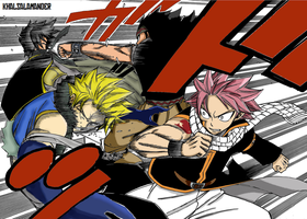 Fairy Tail vs. Sabertooth by KhalSalamander