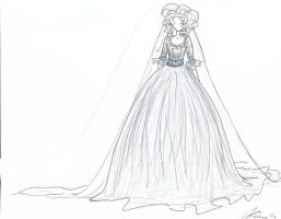 wedding dress a l' anglaise by AleksandraKN