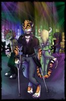 $Commission- Punk Tiger by Carlie-NuclearZombie