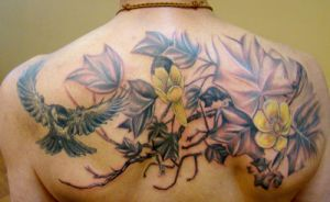 Bird and Flower Back Piece by seanspoison