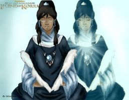 Spirit Korra out of the body. by Valya-Valentinka