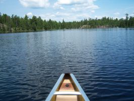 Canoeing on Hegman Lake by Silverwolf-1ofmany