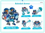 Robobot Armor Water Mode by Kirbmaster