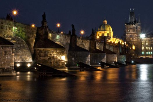 Prague - Charles' Bridge by amrodel