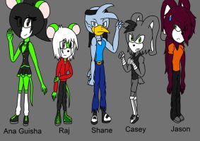 Character ref Batch 6 by Doggshort2