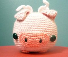 Big flying pig amigurumi by AAMurray