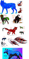 Large bunch of Adopts! by ZinStone