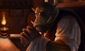 Orc Bartender by Izzual