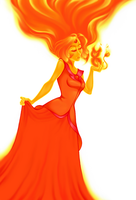 Flame Princess I by HechiceraRip